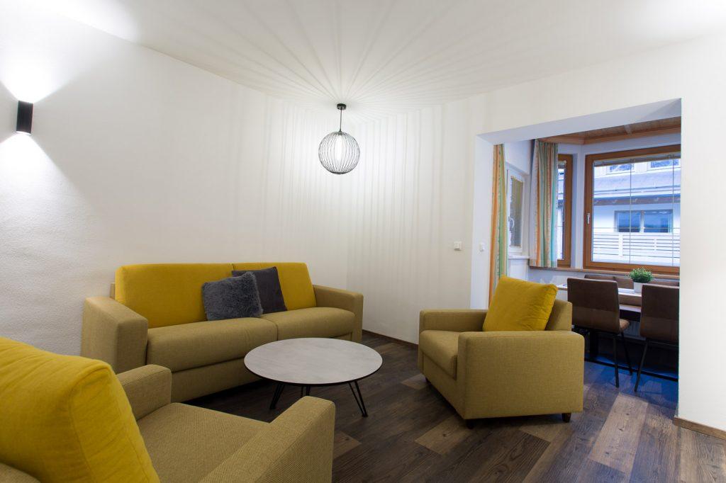 HeaderSlider Appartements Wohnbereich