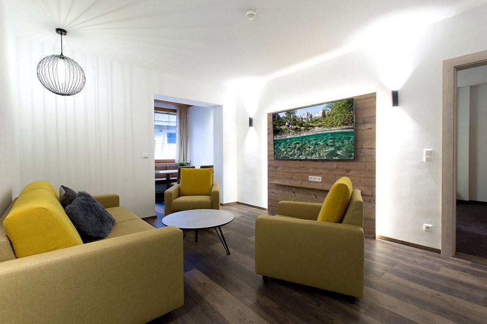 Wohnzimmer - Ferienwohnung Aparthotel Tyrol
