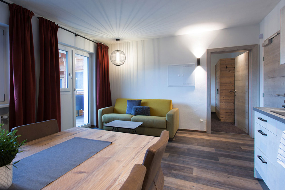 Wohnküche - Ferienwohnung Aparthotel Tyrol